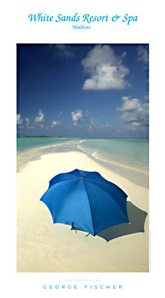 poster-White-Sands-Umbrella-Maldives
