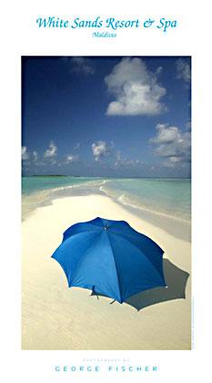 poster-White-Sands-Umbrella-Maldives