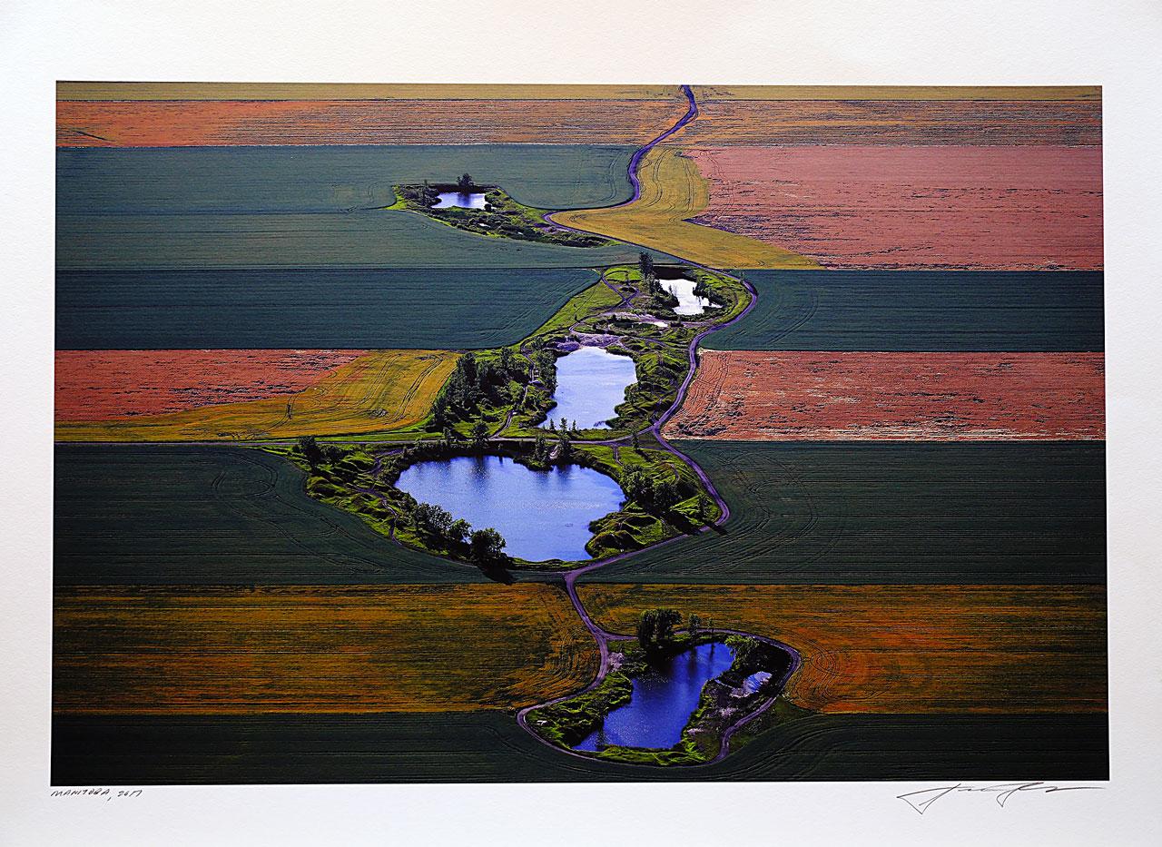 print-Canada-Manitoba-field-and-pond
