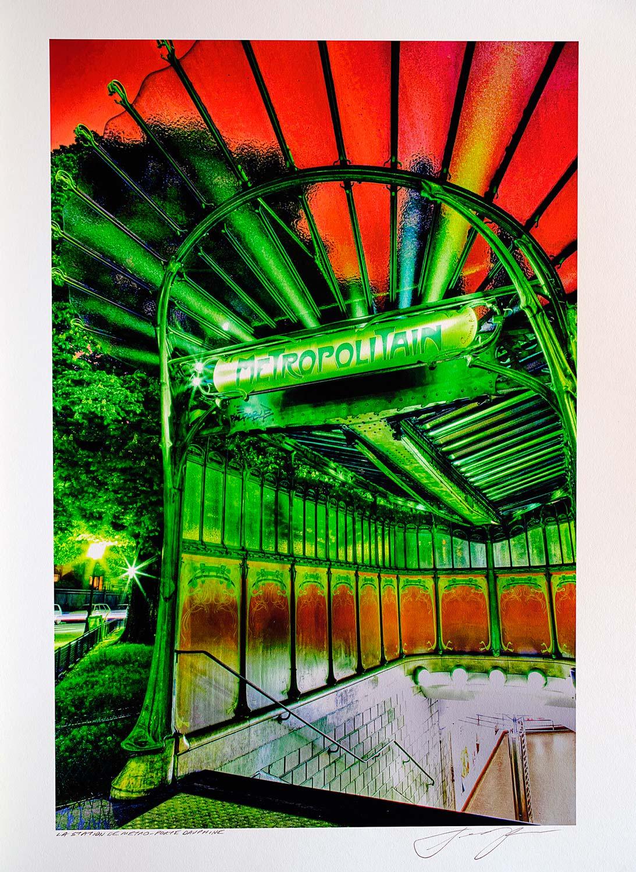 print-France-Paris-la-station-de-metro-porte-dauphine