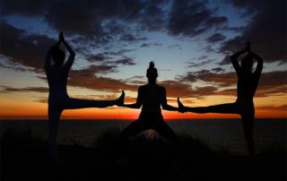 yoga group pose